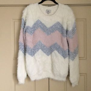 Hot & Delicious Silver & Pink Sweater - Medium